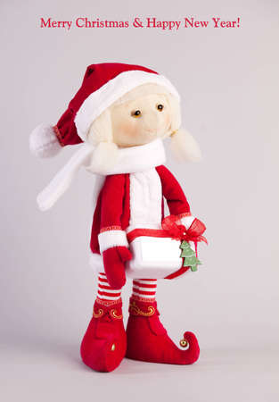 Christmas doll. Christmas cards. Stock Photo - 12784146