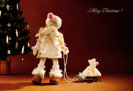 Christmas doll. Christmas cards. Stock Photo - 12940546