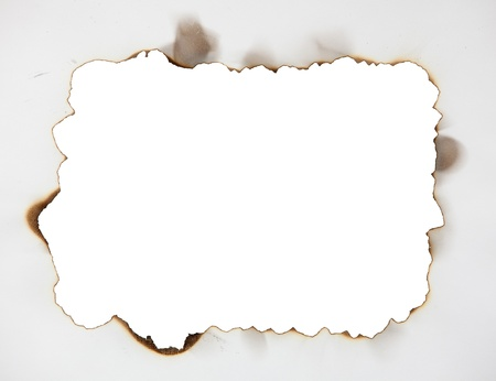 burnt paper: Scorched frame on paper. Burnt hole