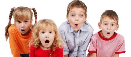 boca abierta: Los ni�os sorprendidos con la boca abierta