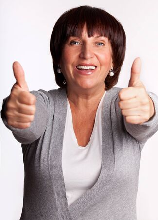 Success and happy mid adult woman Stock Photo - 14698091
