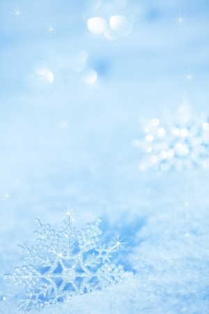 Winter background. Snowflakes on snow 版權商用圖片