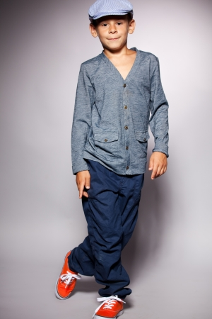 Fashion Child. Happy Boy Model Stock Photo, Picture And Royalty ...