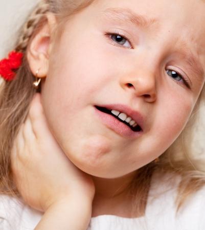 tonsillitis: Child has a sore throat. Angina