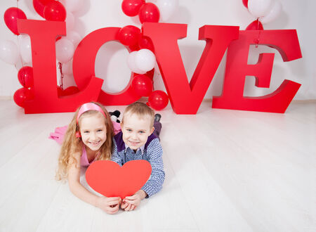 Children's  love. Decoration for celebration. Valentine's, mother's day or weddings photo