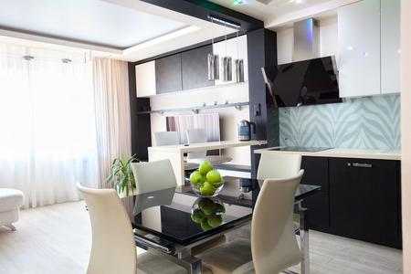 Interior kitchen. Modern kitchen. Parlour photo