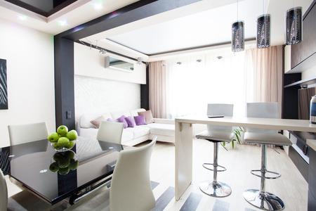 Interior kitchen. Modern parlour. Hall photo
