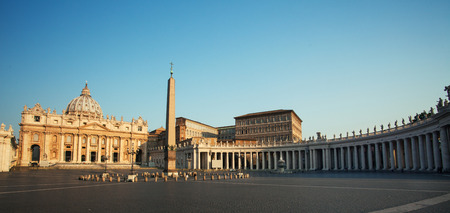 basilica of saint peter: Cathedral of St Peters. St. Peters Basilica, Vaticano, Italy, Rome Stock Photo