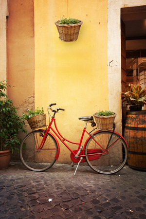 italy: Roman street. Italy. old streets in Trastevere