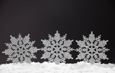 snowflake snow: Christmas decoration. Christmas snowflake on snow