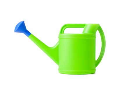 bailer: Watering can. Sprinkler isolated on white. Bailer