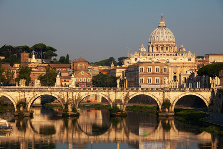 St. Peters Basilica, Vaticano, Italy, Rome, bridge. Cathedral of St Peters.