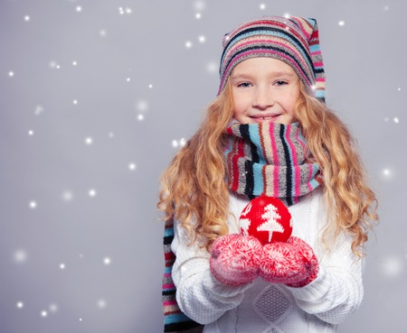Girl in winter clothes