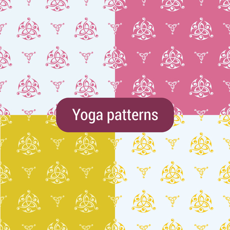 seamless pattern with Triquetra symbol