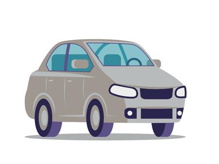 Car flat icon. Vector illustration. 矢量图像
