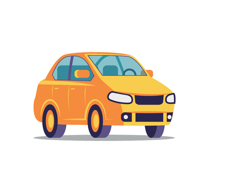 car vector illustration of flat design on the white background