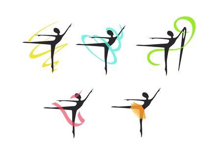 symbol for a sewing studio, dresses for ballerinas Standard-Bild - 127895600