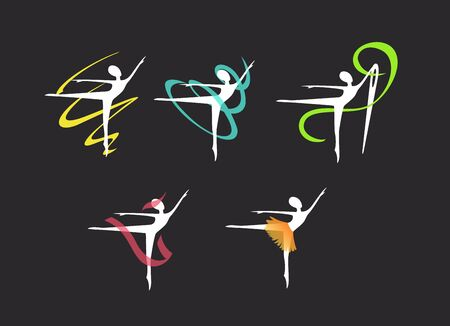 symbol for a sewing studio, dresses for ballerinas Standard-Bild - 127895606