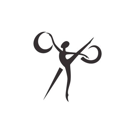 silhouette ballerina and scissors, sewing studio Banque d'images - 127895607