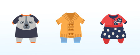 clothes for kids, dresses and costumes, cute children's outfit Stock fotó - 123810499