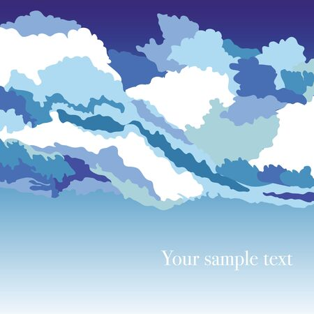 abstrakt: Abstrakt background with sky and clouds, vector illustration