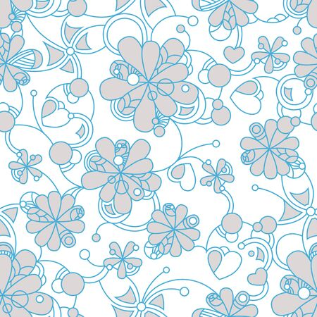replicate: Floral seamless background - pattern for continuous replicate