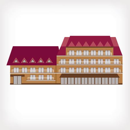 castle interior: vector illustration of modern building for web design and infographics Illustration