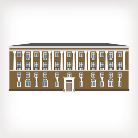 historical building: Vector illustration of vintage historical building for web design and infographics