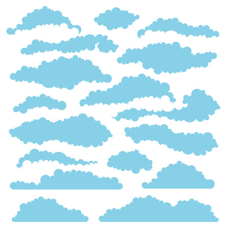 fluffy: Set of fluffy clouds for design and layouts. Vector illustration Illustration