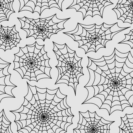 spider's web: Spiders web seamless background. Halloween vector pattern