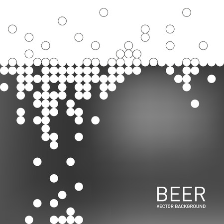 beer foam: Beer foam background, stylized bubble and liquid. Vector illustration Illustration