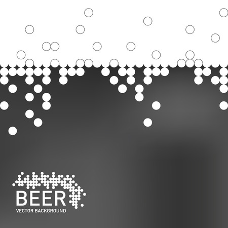 foaming: Beer foam background, stylized bubble and liquid. Vector illustration Illustration