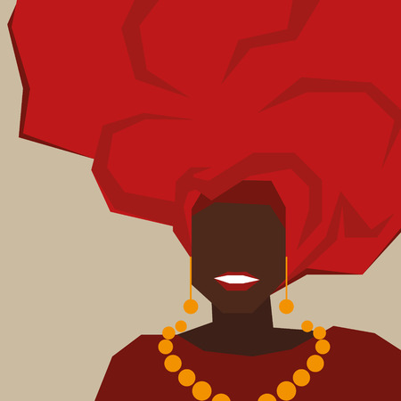 cuban flag: Brazilian black woman in a red turban. Background for your design.