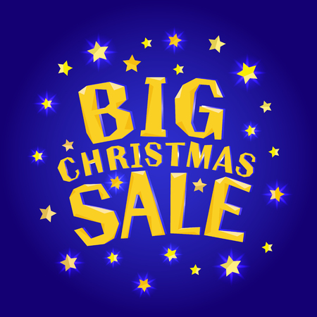 스타와 함께 큰 크리스마스 판매입니다.