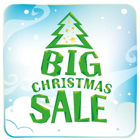 큰 크리스마스 판매와 전체 산타 클로스 가방입니다. 일러스트