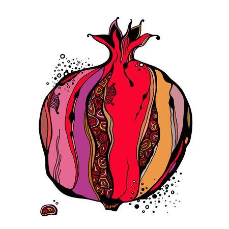 Stylized garnet or pomegranate. Vector