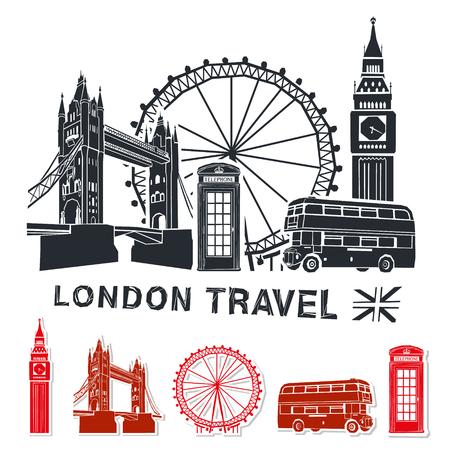 ロンドン旅行ベクトル イラスト