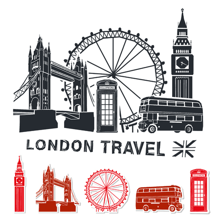 London travel vector illustration