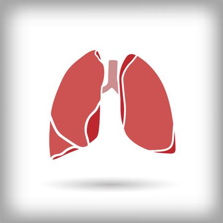 肺のアイコン。ベクトル