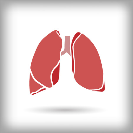Lungs icon. Vector
