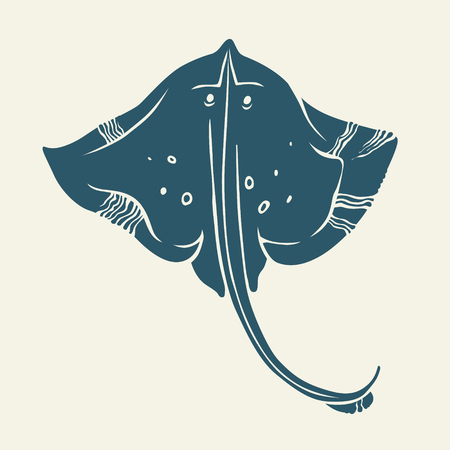 Stingray icon isolated. Vector Ilustração