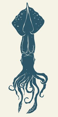 Squid icon isolated. Vector