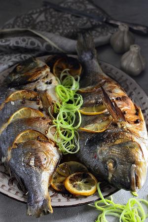 Fried fish dorado