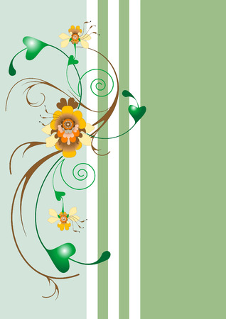Border with exotic flower. Background.Wallpaper. Stock Vector - 6996612