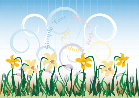 Background  with  wildflowers. Banner. Wallpaper. Stock Vector - 6996621