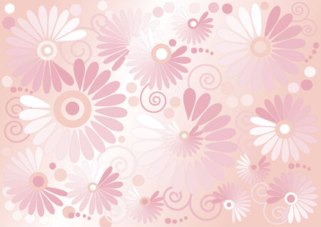 Pink background  with flowers  .Background. Wallpaper.