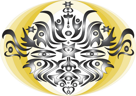 devil ray: Abstract mask banner composition.Mask Illustration