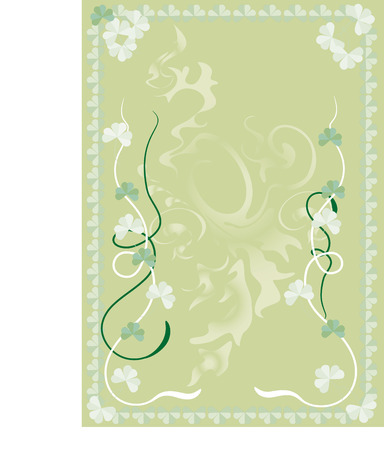Cards on the day of Saint Patrick S.  Postcard.   Background.  Vector