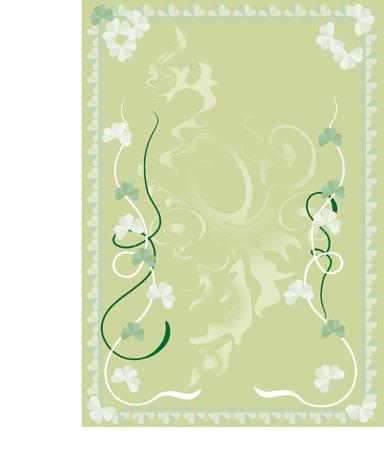 saint patrick s: Cards on the day of Saint Patrick S.  Postcard.   Background.