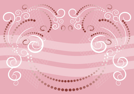 Pink background with ornamental pattern. Background. Banner.